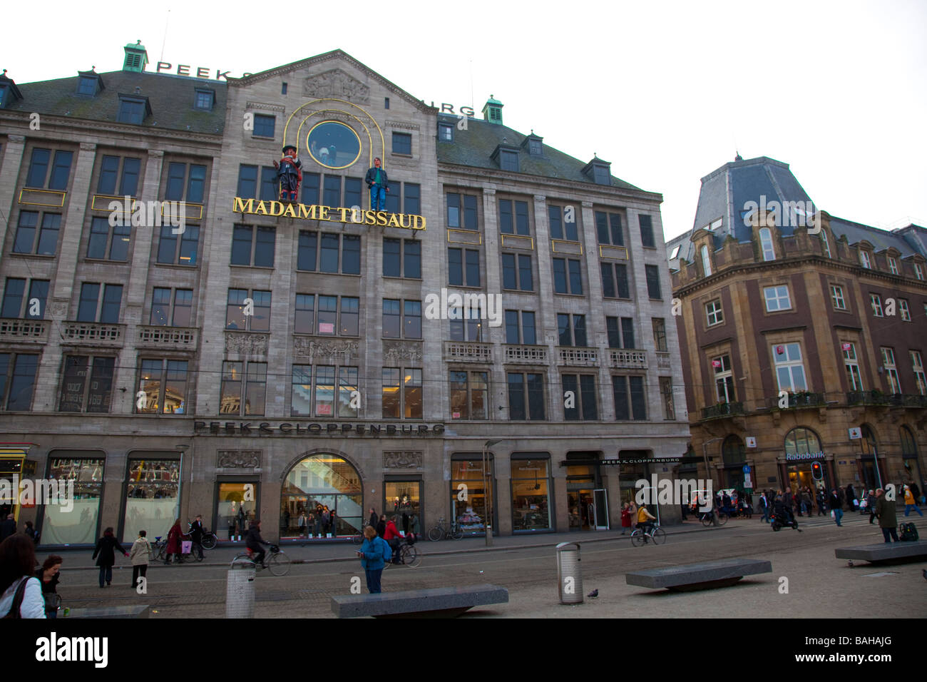 Facade of the Madame Tussaud Museum in The City of Amsterdam Netherlands - Stock Image