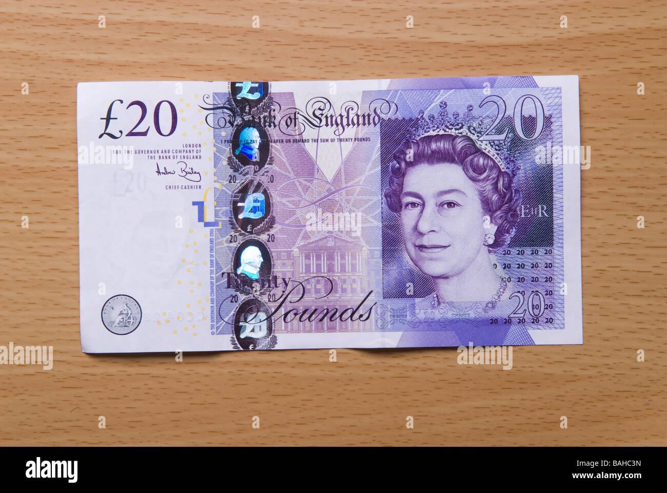 Twenty pounds banknote - Stock Image