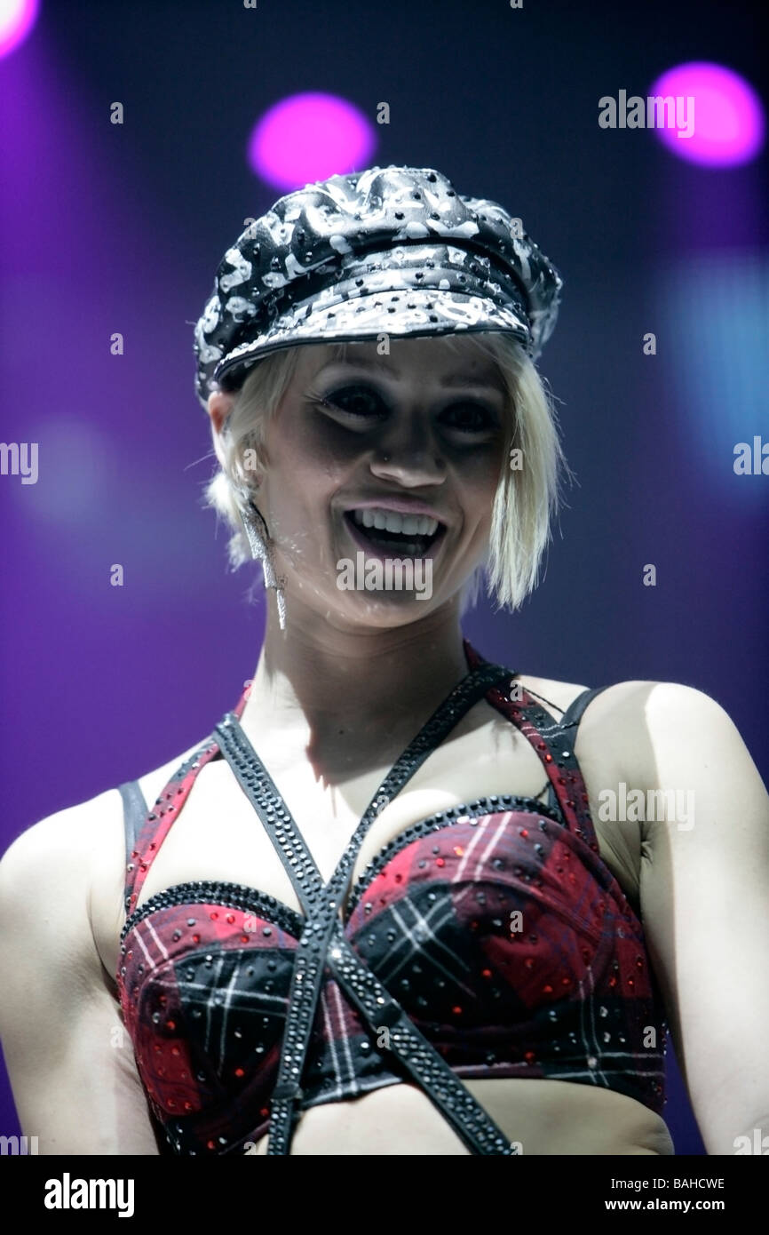 Kimberly Wyatt of the pussycat dolls performs onstage at Kings Hall on February 3 2009 in Belfast Northern Ireland - Stock Image