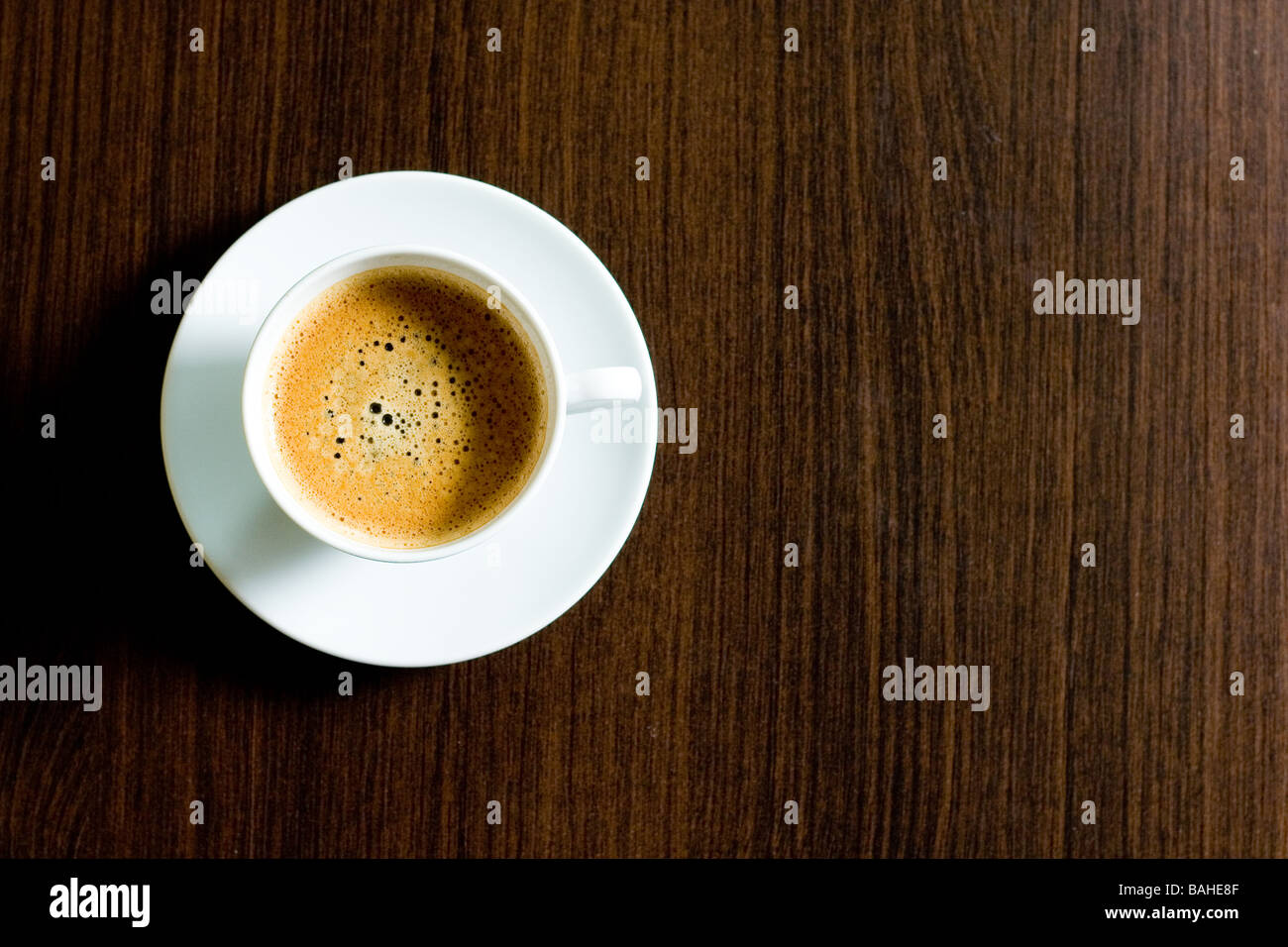 cup of coffe on table - Stock Image