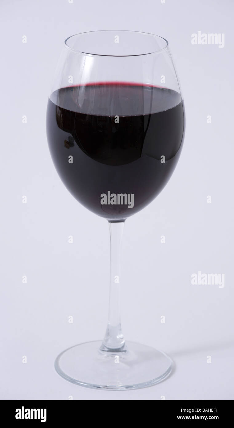 glass red wine - Stock Image
