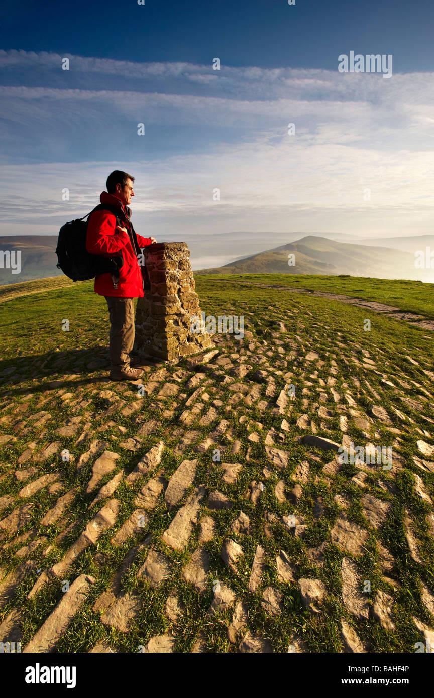 Mam Tor Edale Valley Derbyshire UK - Stock Image