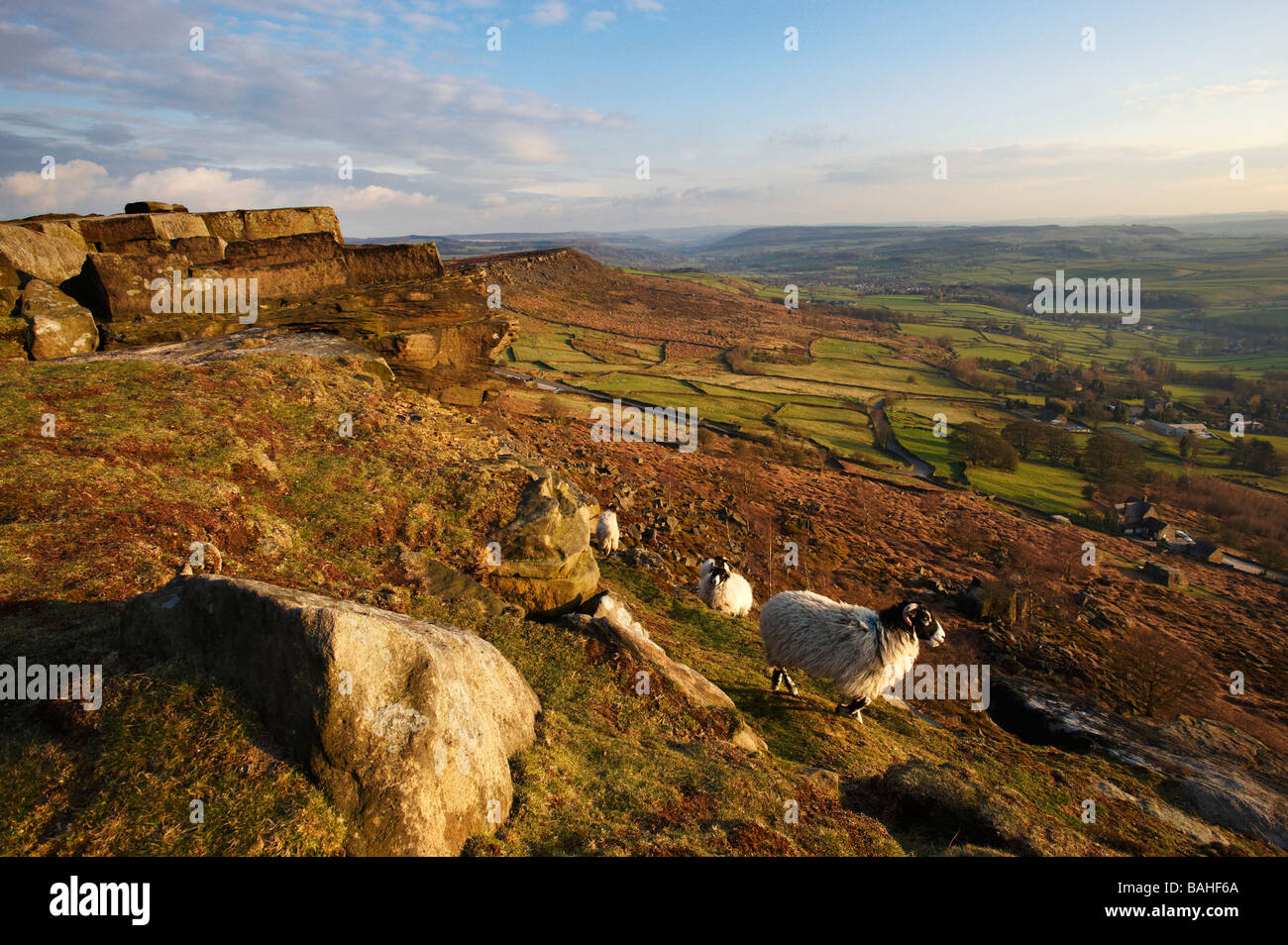 Curbar Edge Derbyshire UK - Stock Image