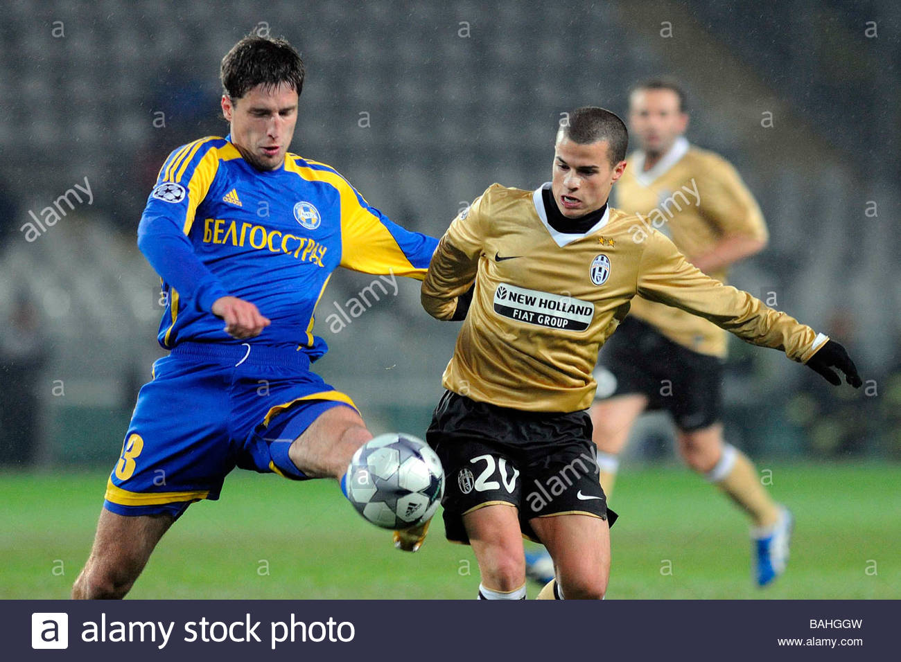 sergei sosnovski and sebastian giovinco'torino 10-12-2008 'football champions league 2008-2009'juventus-bate borisov - Stock Image