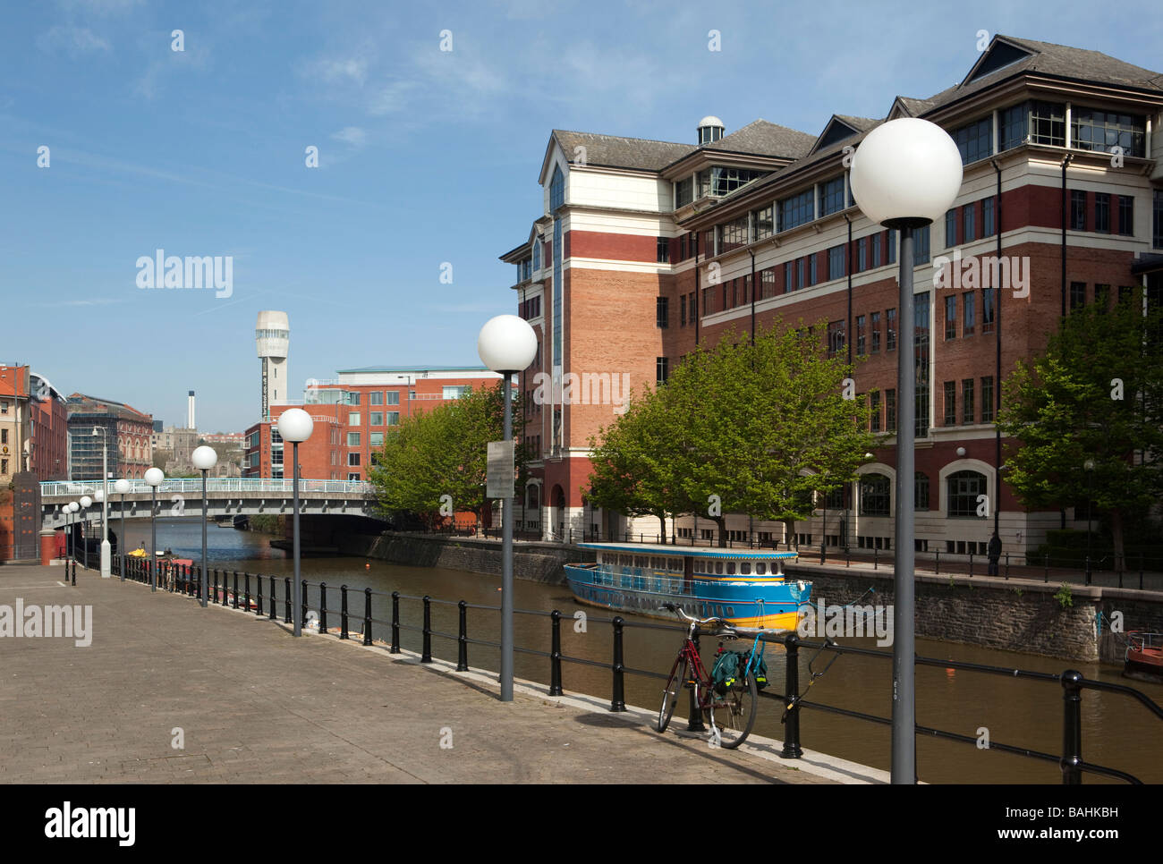 England Bristol Temple Quay River Avon Royal Bank of Scotland waterfront offices - Stock Image