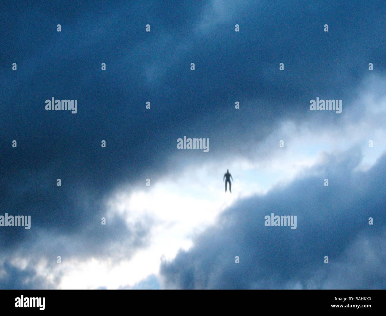 Flying Humanoid - Stock Image