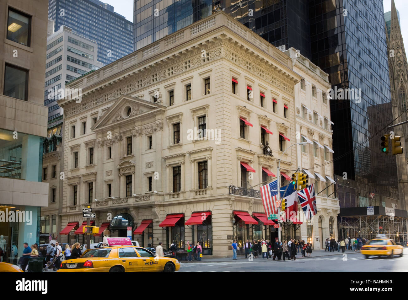 Cartier flagship store Fifth Avenue New York City - Stock Image