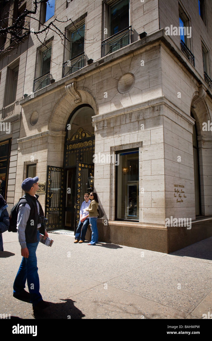 Harry Winston flagship store Fifth Avenue New York City - Stock Image