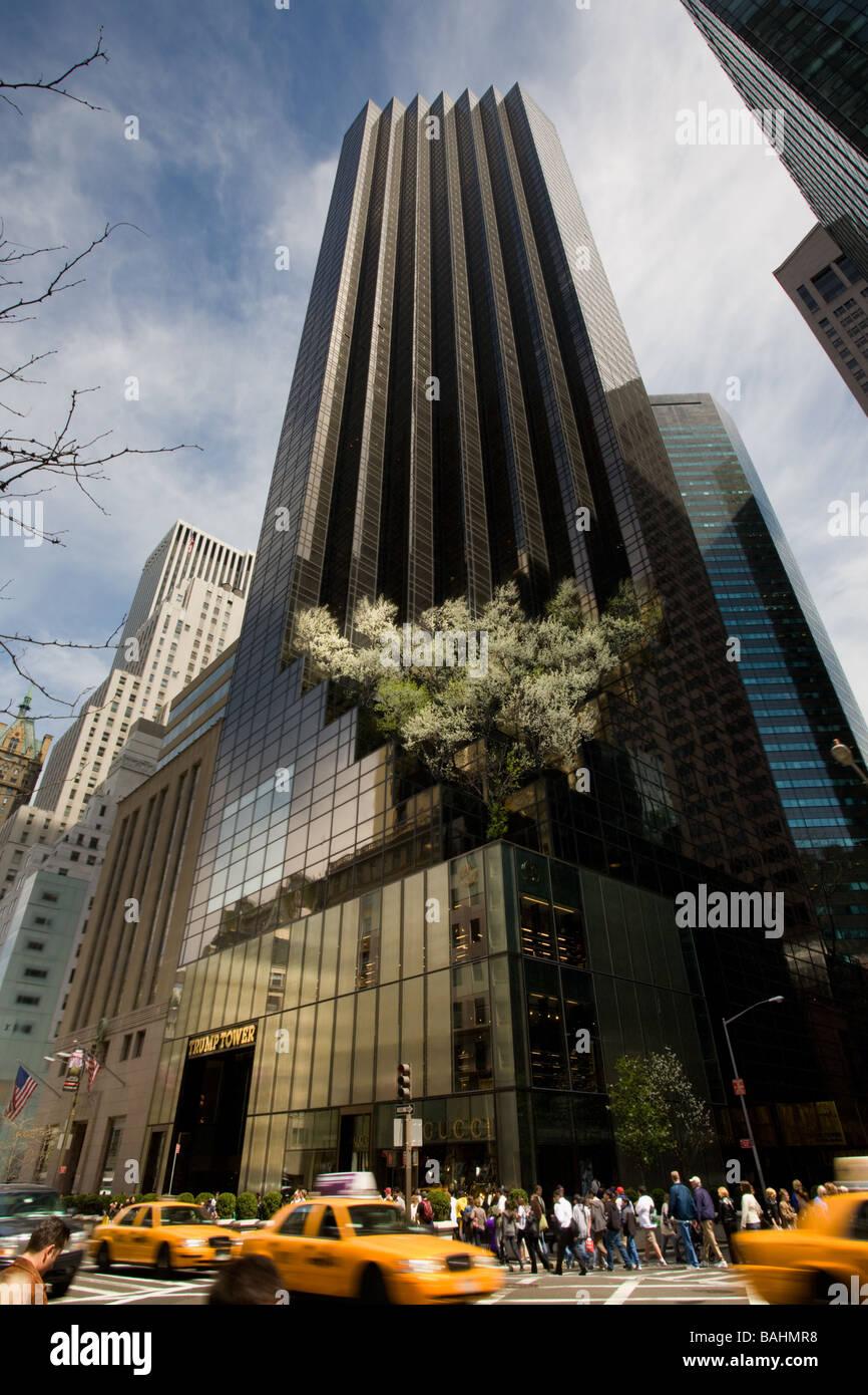 New York City Urban Garden: Trump Tower New York Stock Photos & Trump Tower New York