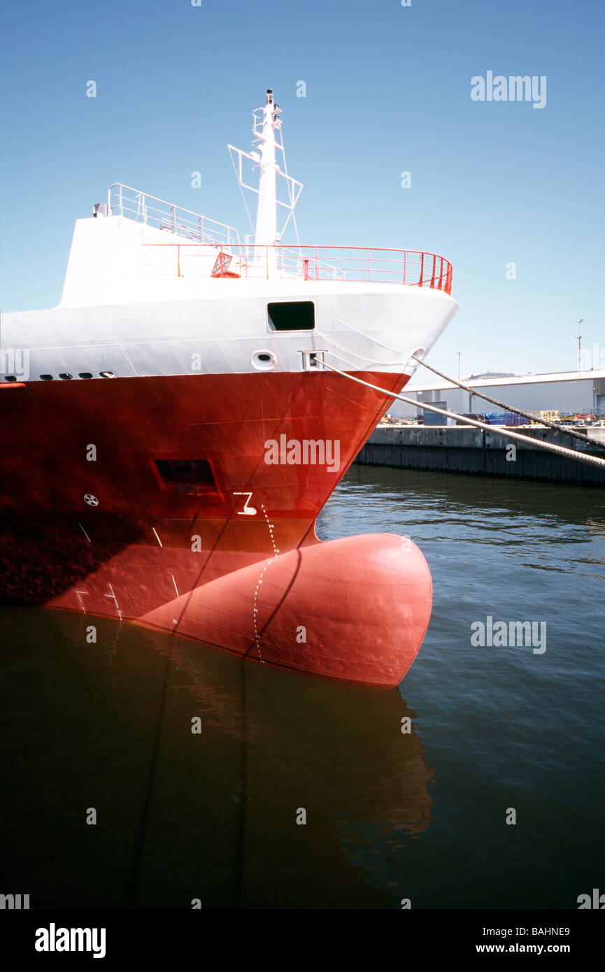 April 24, 2009 - Sietas built and Foroohari owned container ship Confianza in the German port of Hamburg. - Stock Image