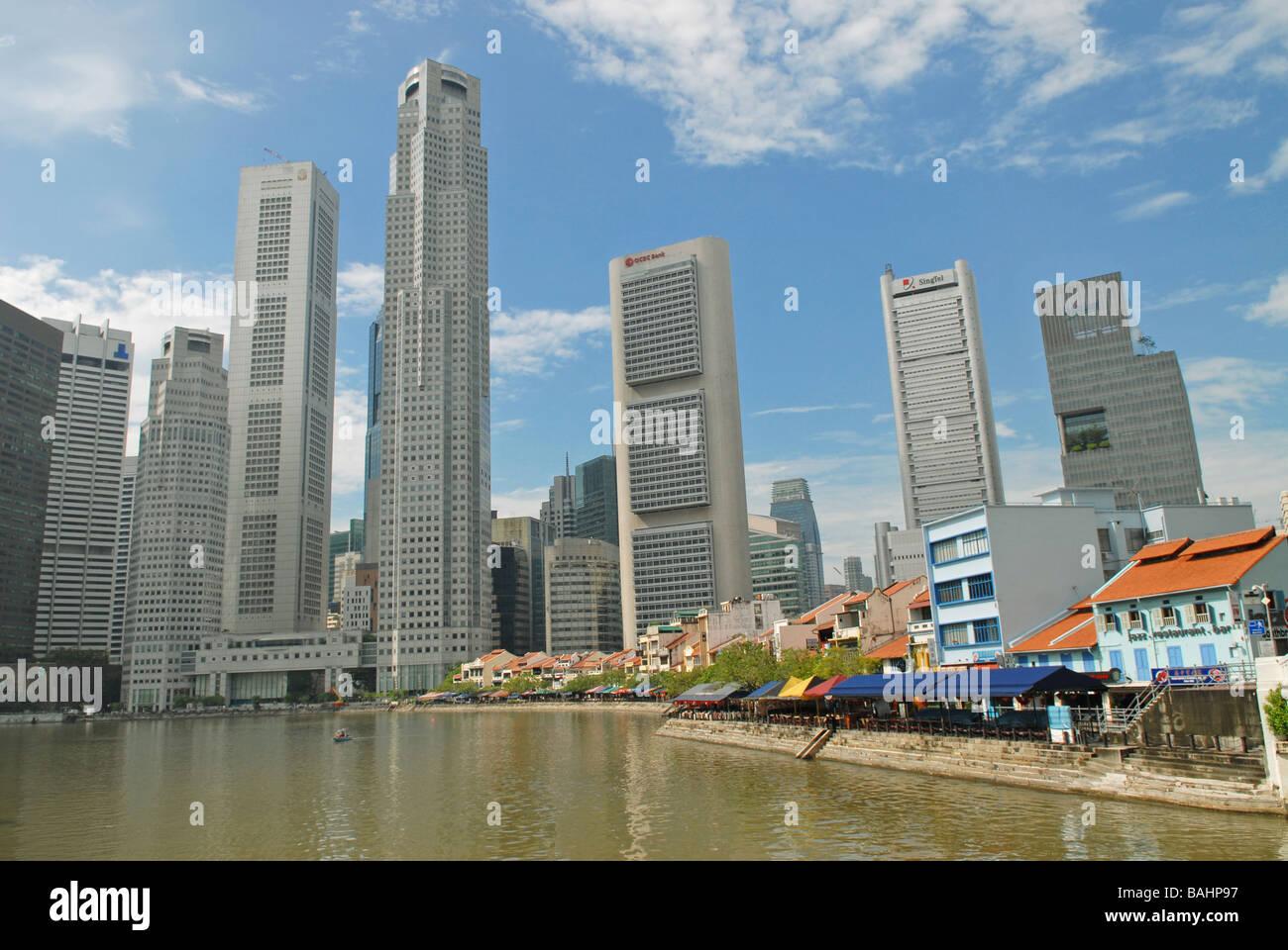 Singapur Skyline - Stock Image