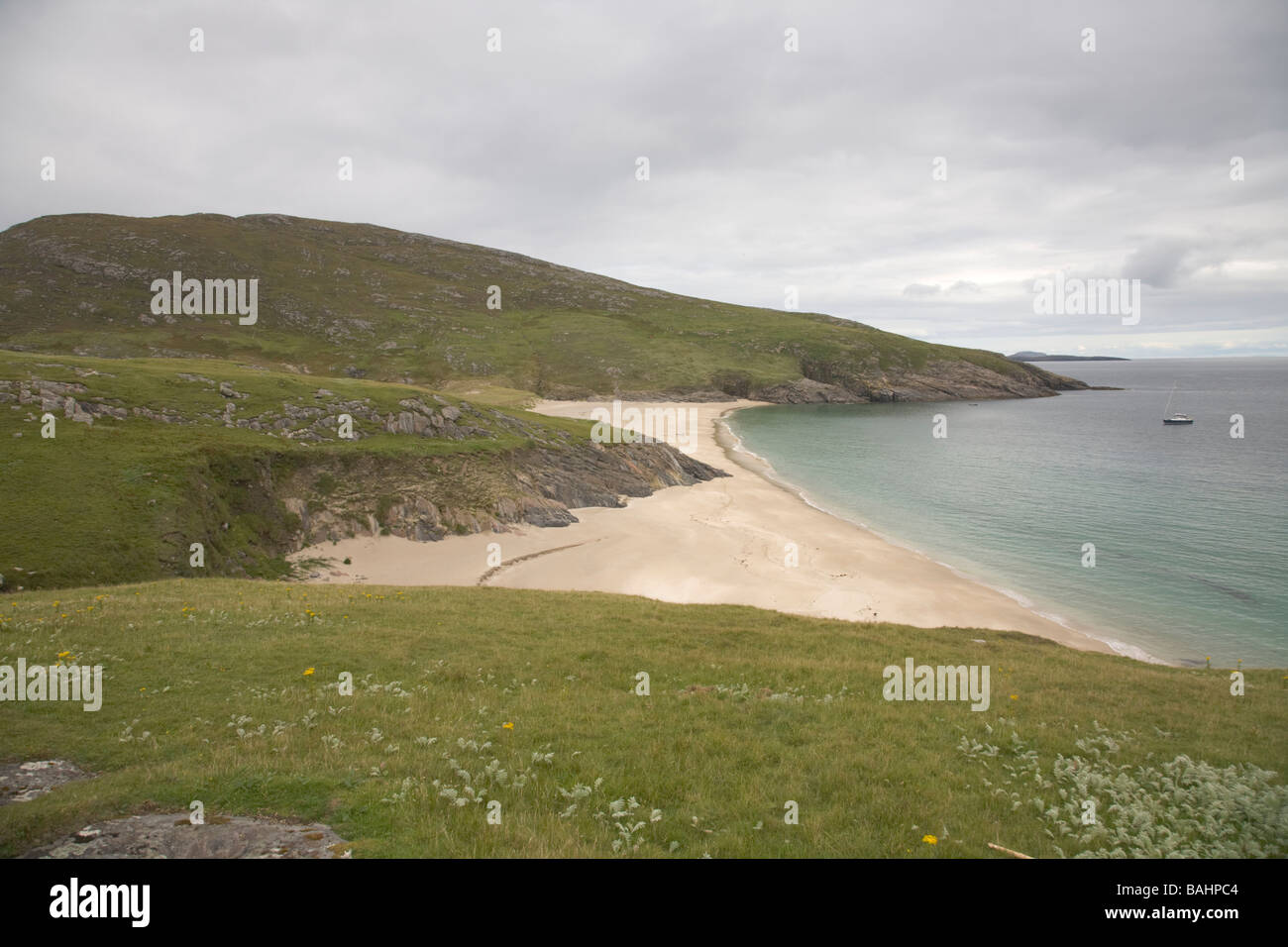 Deserted island of Mingulay Outer Hebrides United Kingdom Scotland GB  - Stock Image