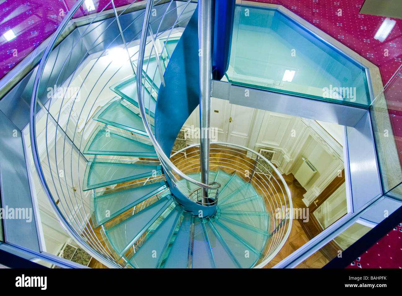 Modern spiral staircase - Stock Image