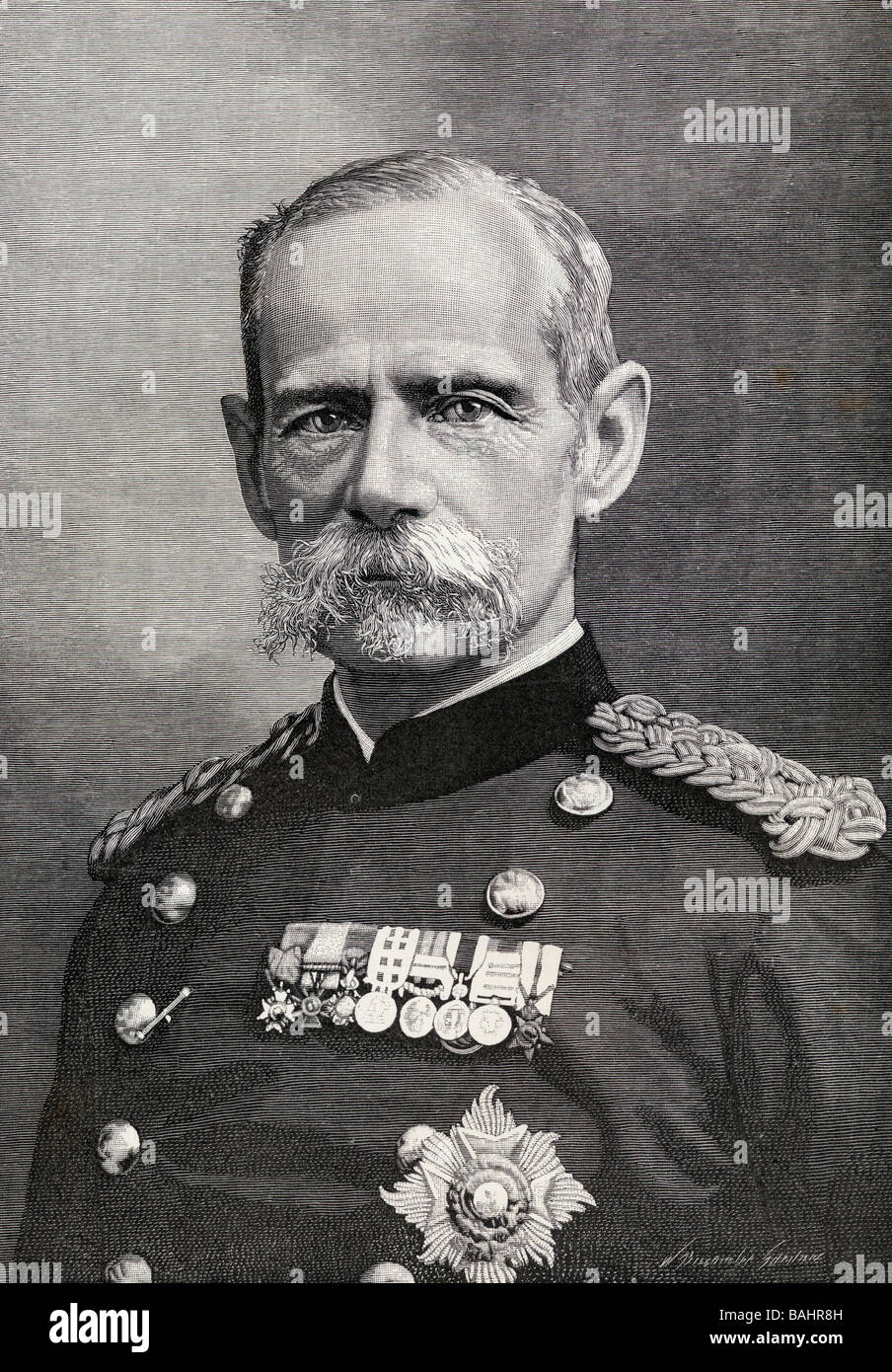 Field Marshal Frederick Sleigh Roberts 1st Earl Roberts 1832 1914 Anglo Irish soldier and commander - Stock Image