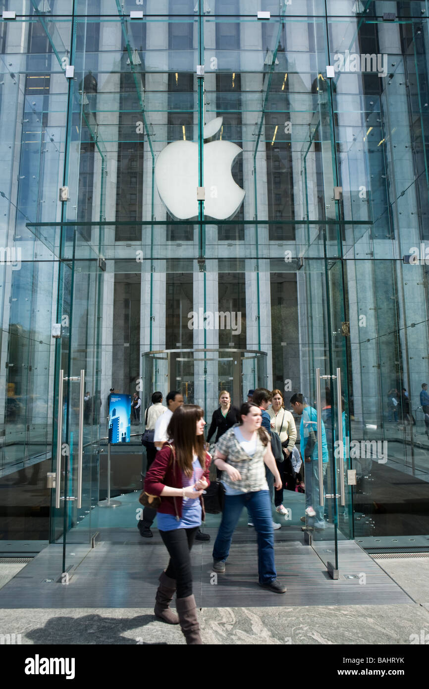 Apple Flagship Store Fifth Avenue New York City - Stock Image