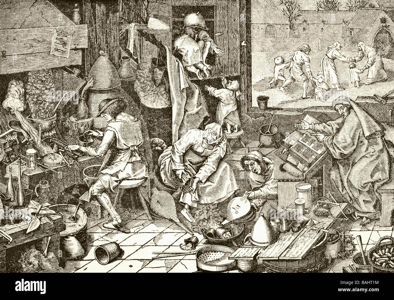 The Alchemist s Laboratory - Stock Image