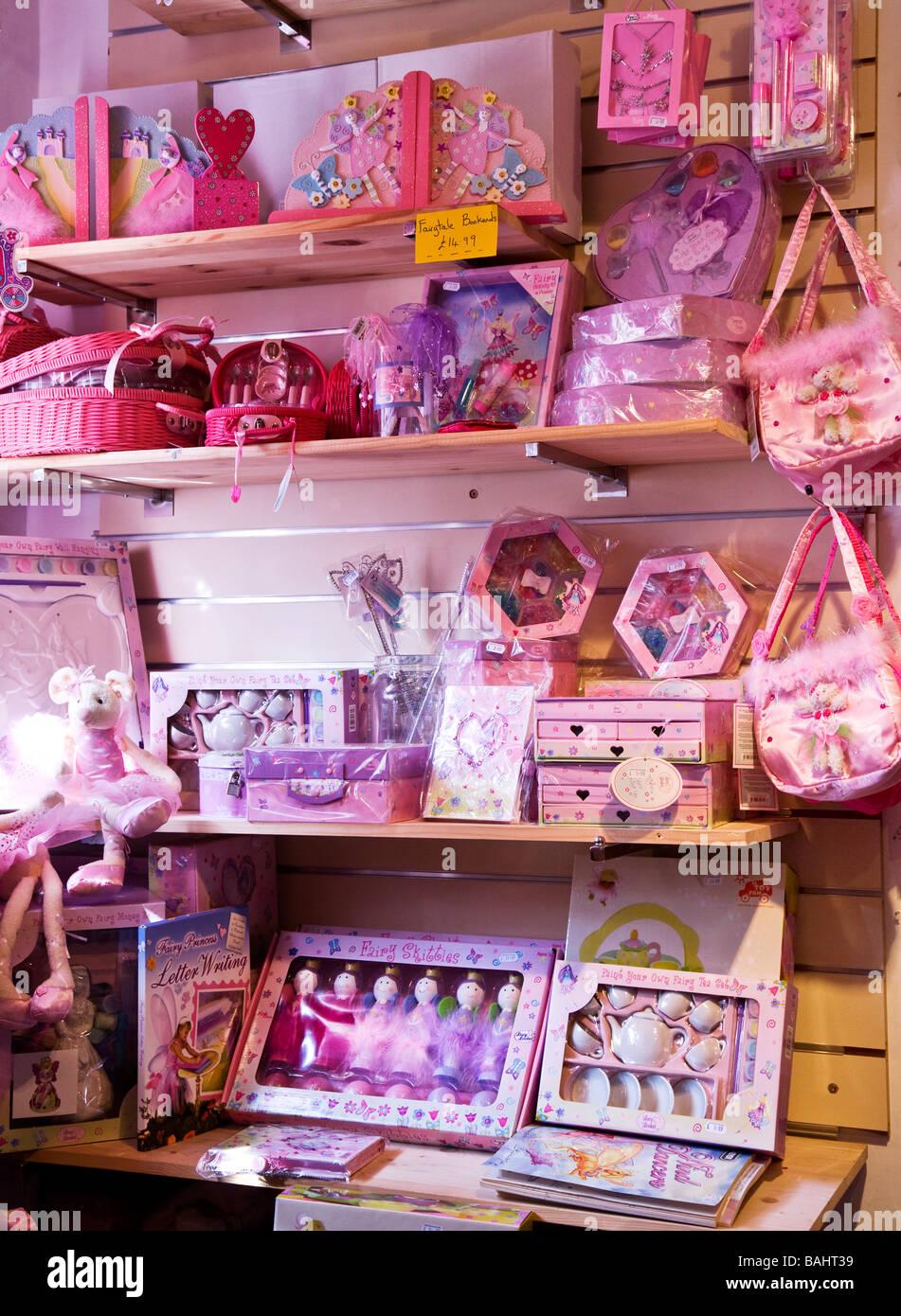 Shelves Of Pink Little Girls Fairy Lucy Locket Toys Inside