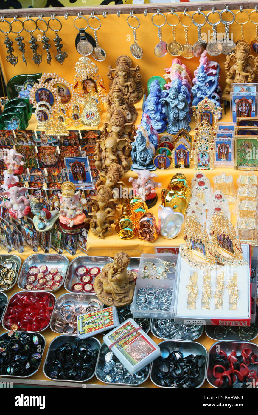 Group of fancy religious items for sale - Stock Image
