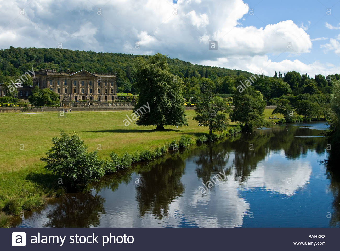 Chatsworth House and grounds, Derbyshire, England, UK - Stock Image