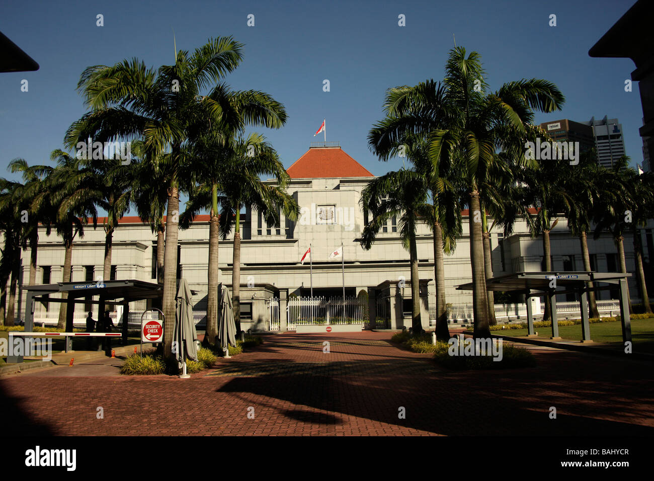 Parliament building in Singapore - Stock Image