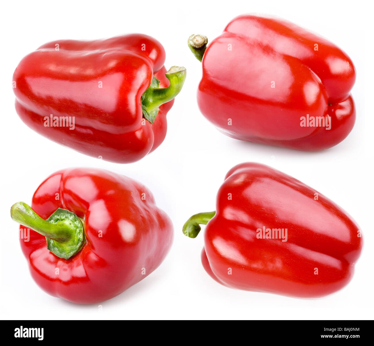 Paprika is on a white background - Stock Image