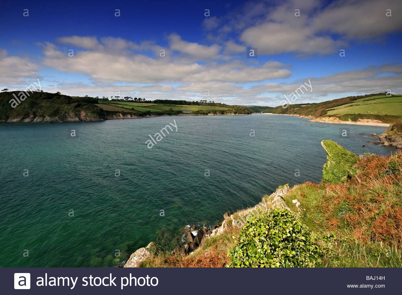 Mouth of the river Erme in Sumertime - Stock Image