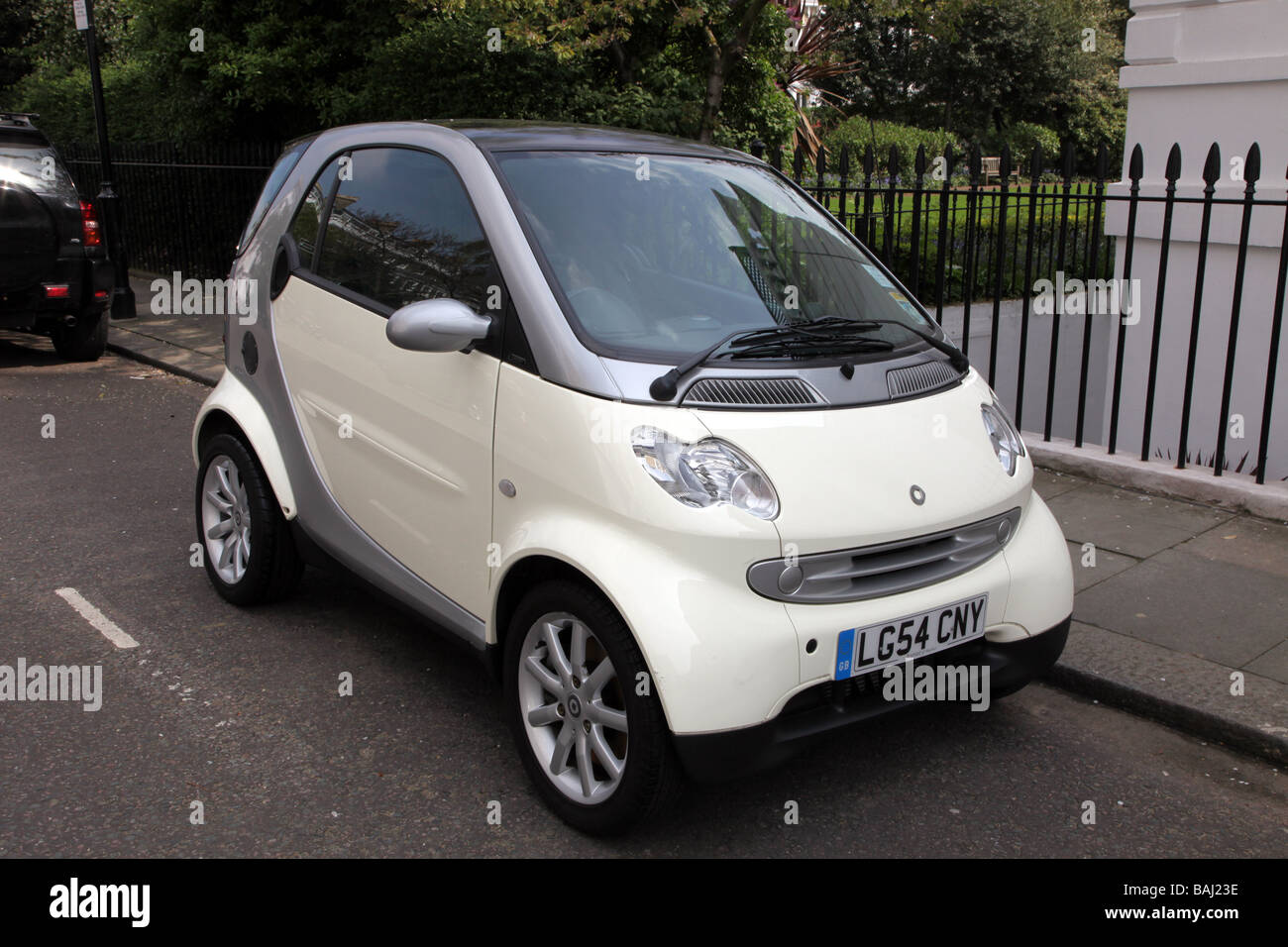 Smart car Chelsea London UK - Stock Image