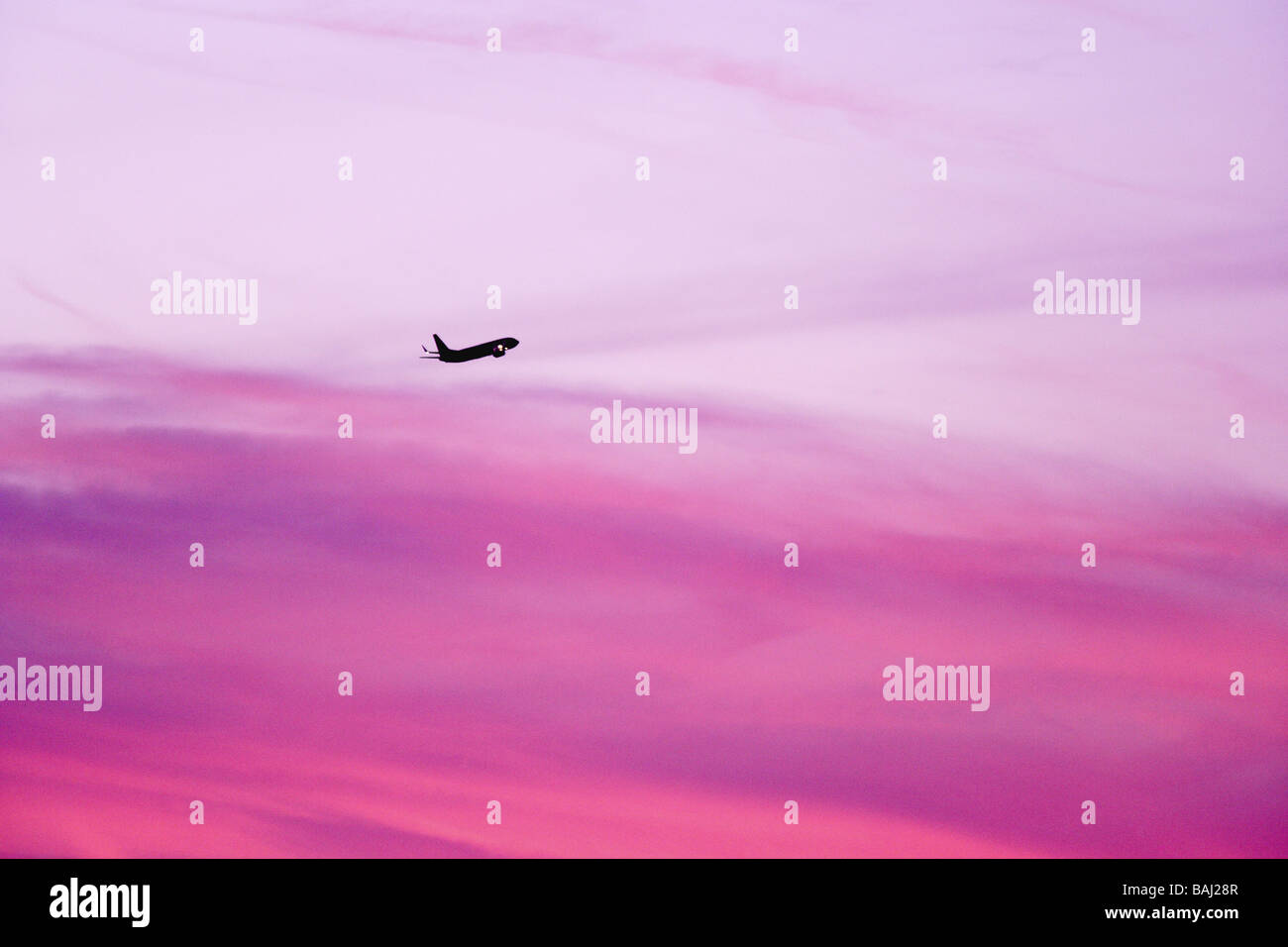 Commercial Aviation, Aircraft in flight. - Stock Image