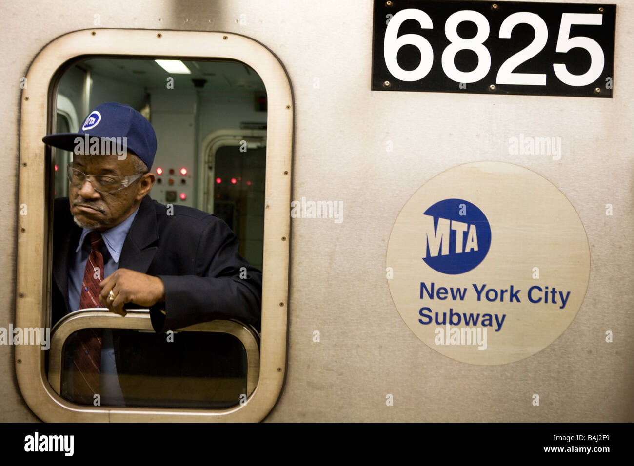 Subway engineer New York City - Stock Image