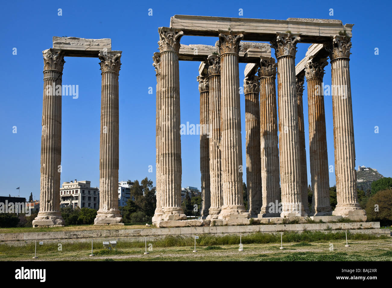 Olympieion, Temple of Olympian Zeus, Athens, Greece - Stock Image