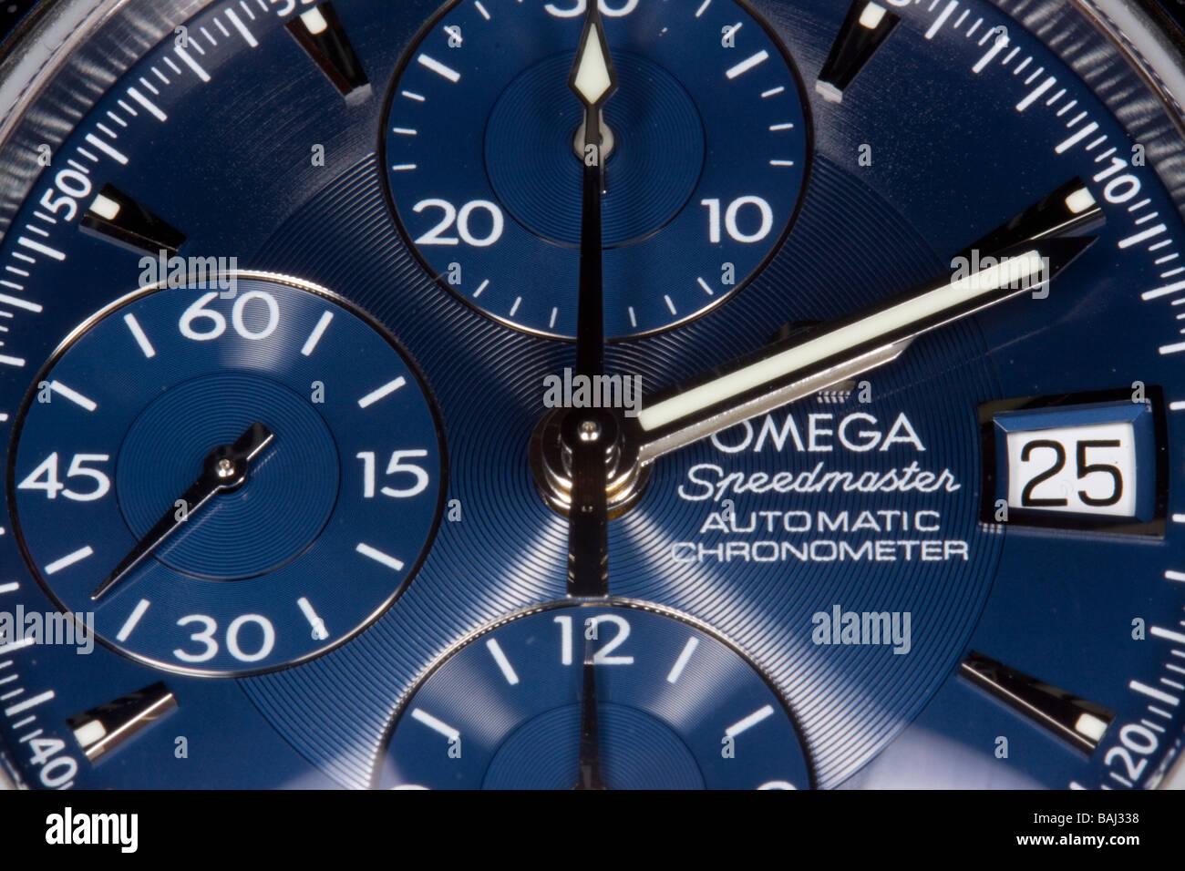 Omega Speedmaster Dial - Stock Image