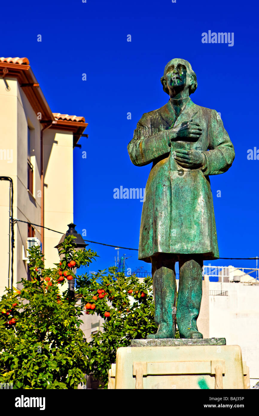 Statue in Plaza San Juan in the district of San Juan City of Jaen Province of Jaen Andalusia Andalucia Spain Europe - Stock Image