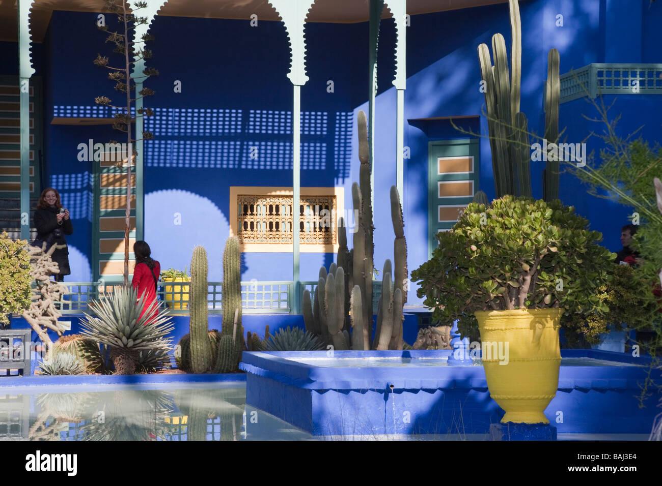 Museum of Moroccan Art in Jardin Marjorelle gardens Marrakech Morocco - Stock Image