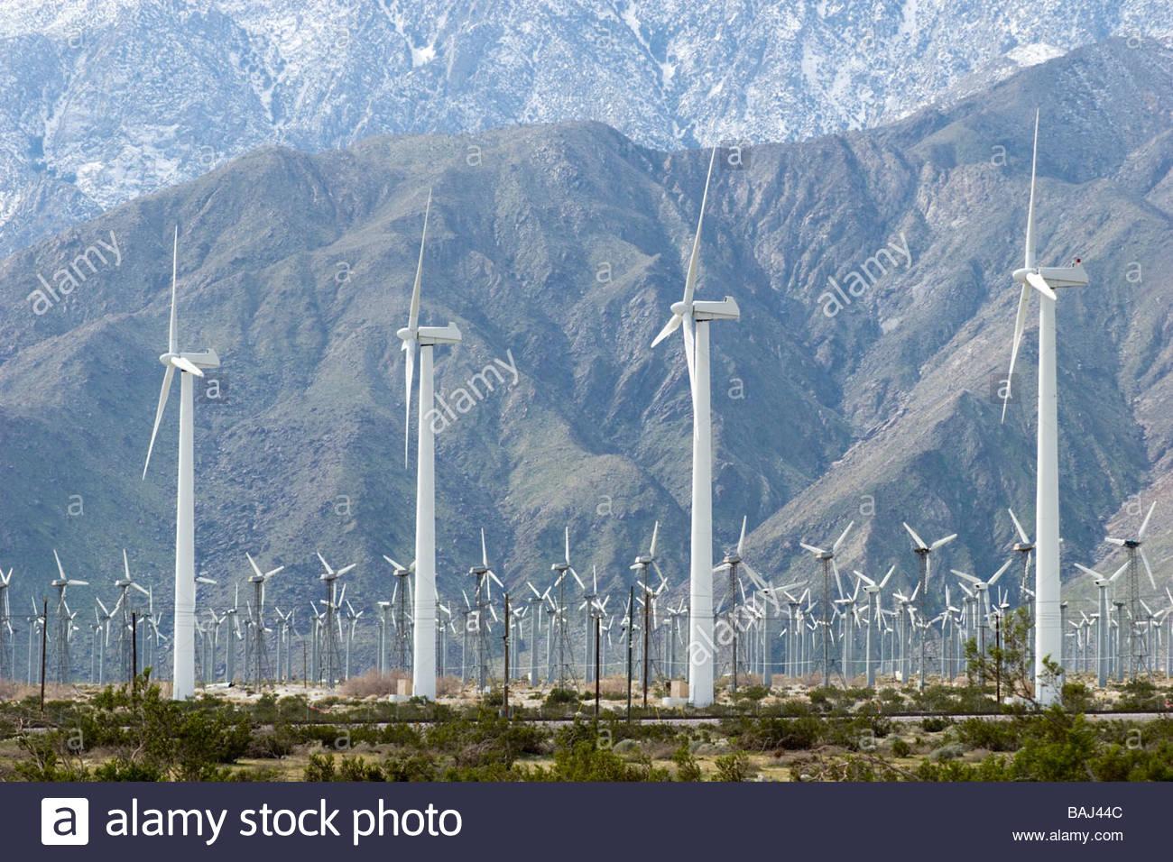 Wind Farm Palm Springs California - Stock Image