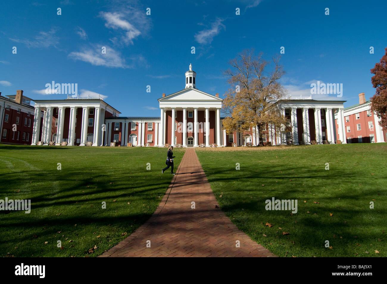 Part of Campus of Washington and Lee University Lexington North Carolina United States of America Stock Photo