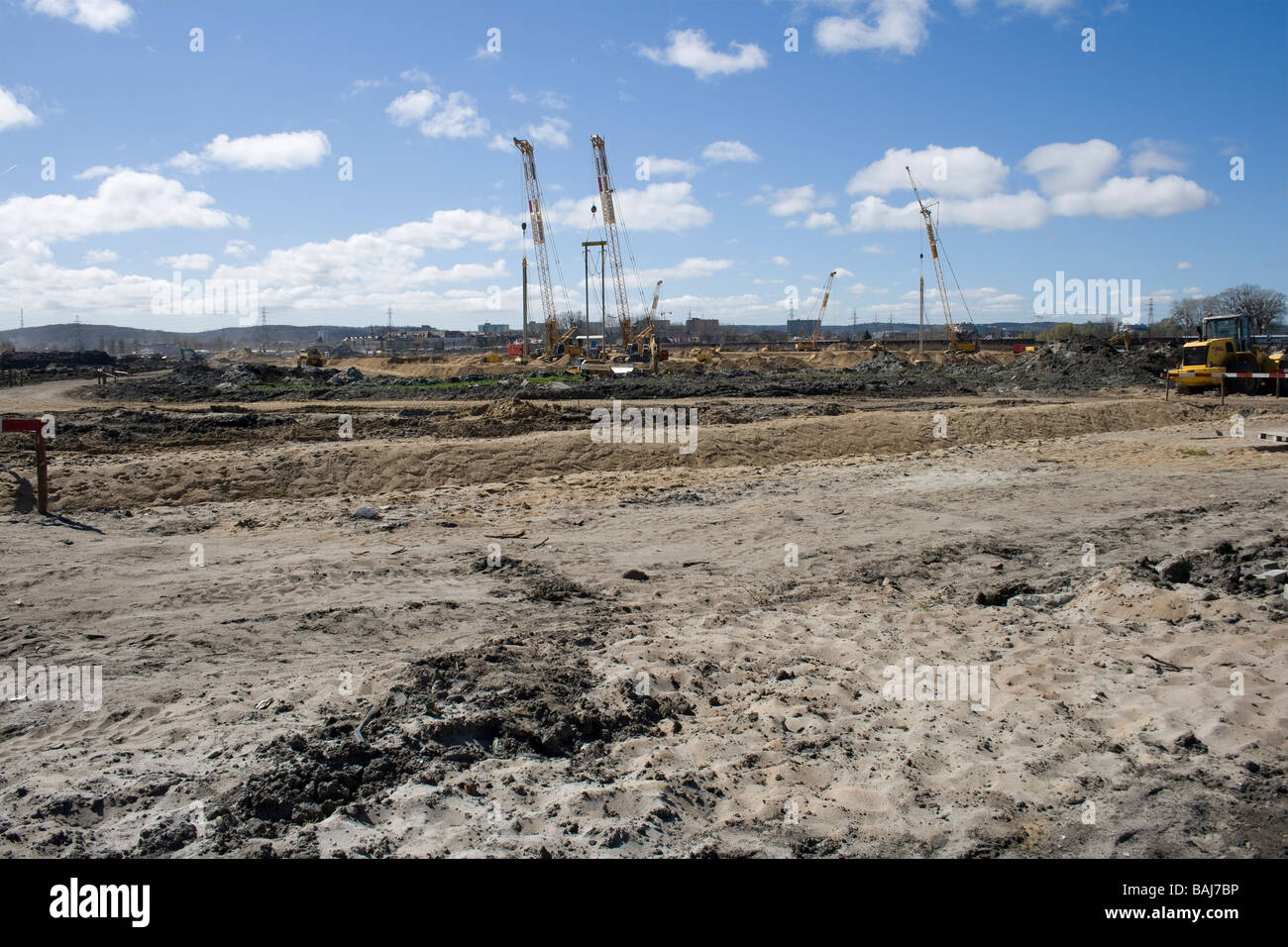 Letniewo, Baltic Arena is being built on the area seen in the picture. Stock Photo