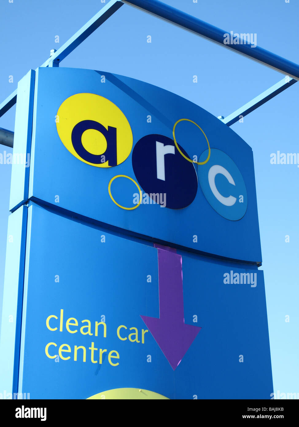 An Arc car wash centre in a U.K. city. - Stock Image