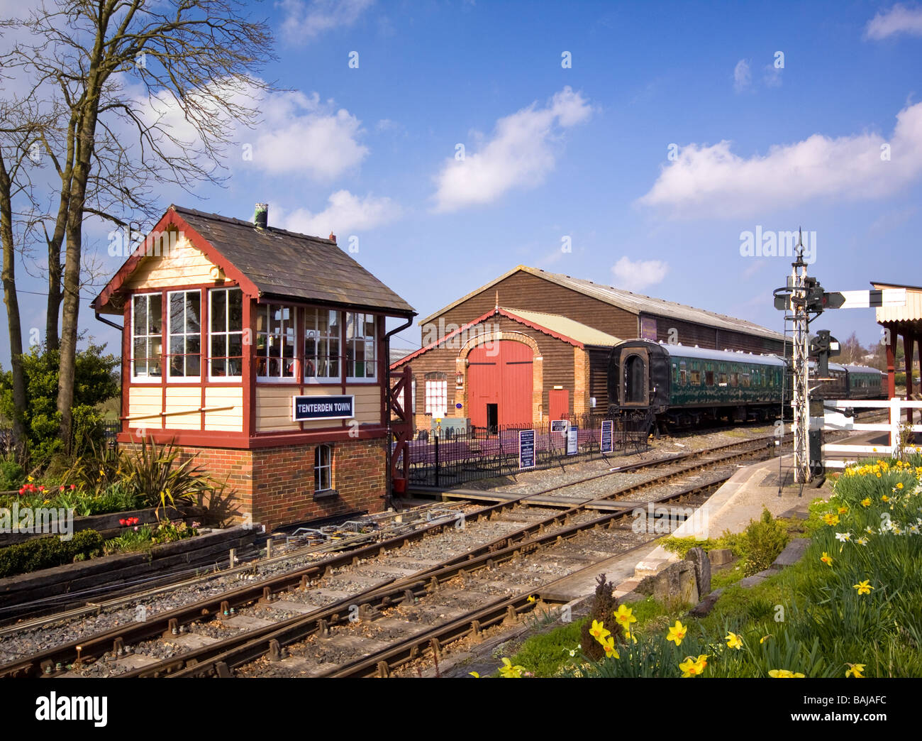 Signal Box at the Kent & East Sussex Railway Tenterden - Stock Image