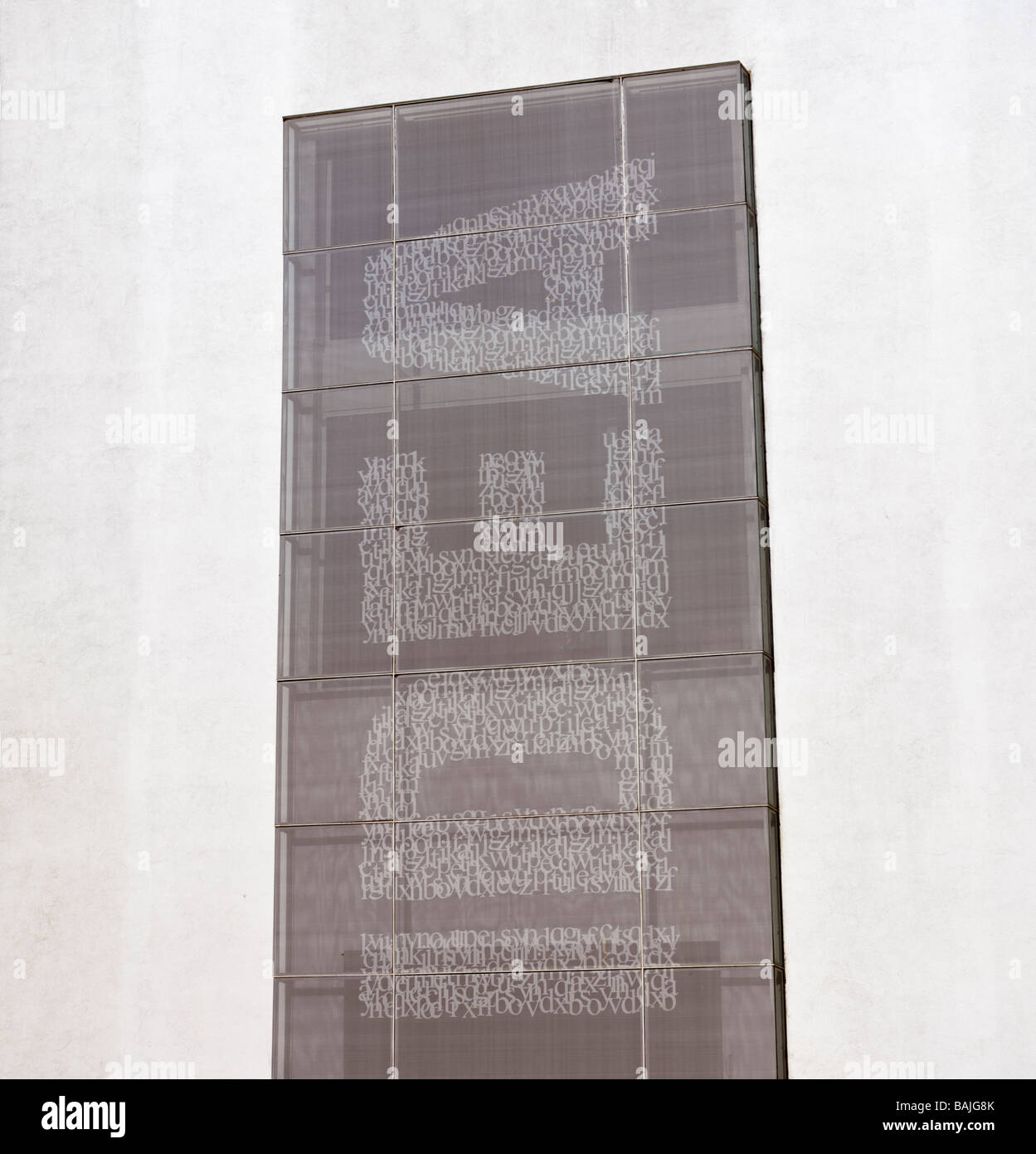 Israel Tel Aviv Rothschild Boulevard,IDEA on side of building - Stock Image