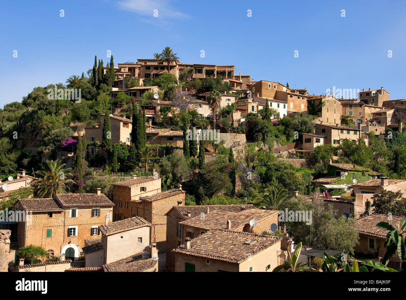 Spain, Balearic Islands, Majorca, Soller, Finca Ca's Sant, family house built in the middle of an orange grove - Stock Image