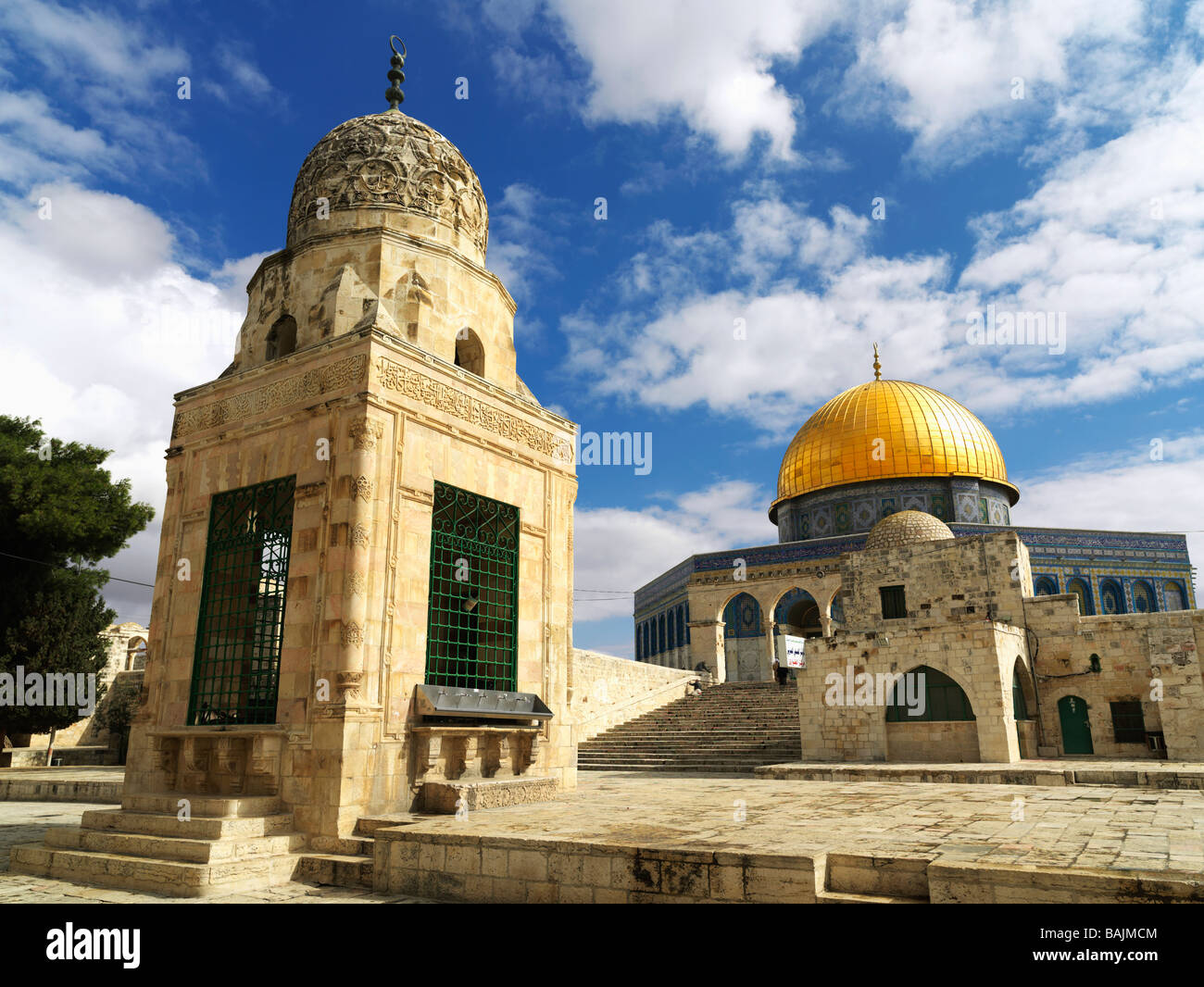 Israel Jerusalem Temple Mount Dome of the Rock mosque Stock Photo