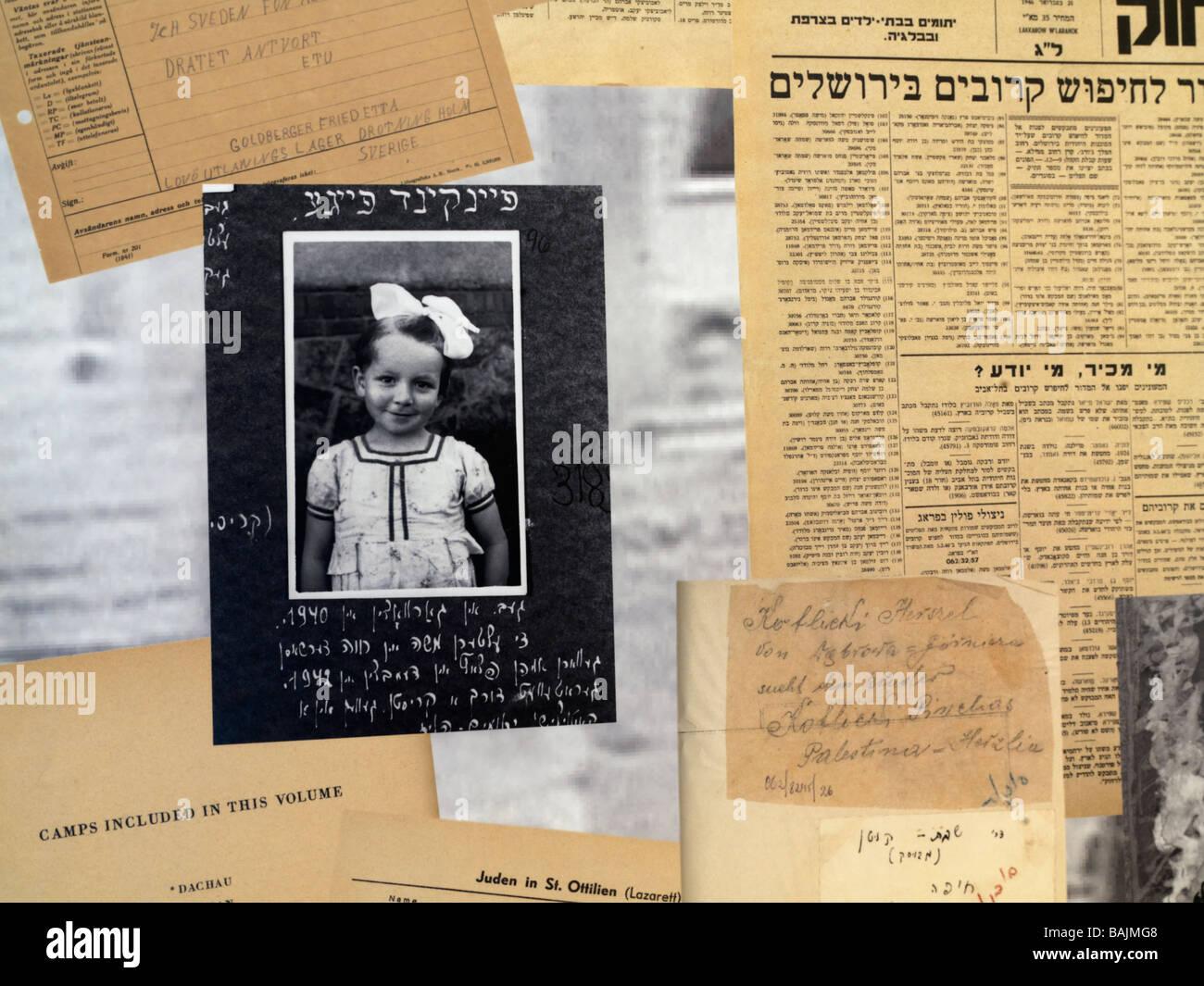 Israel Jerusalem Yad Vashem,Holocaust victims - Stock Image