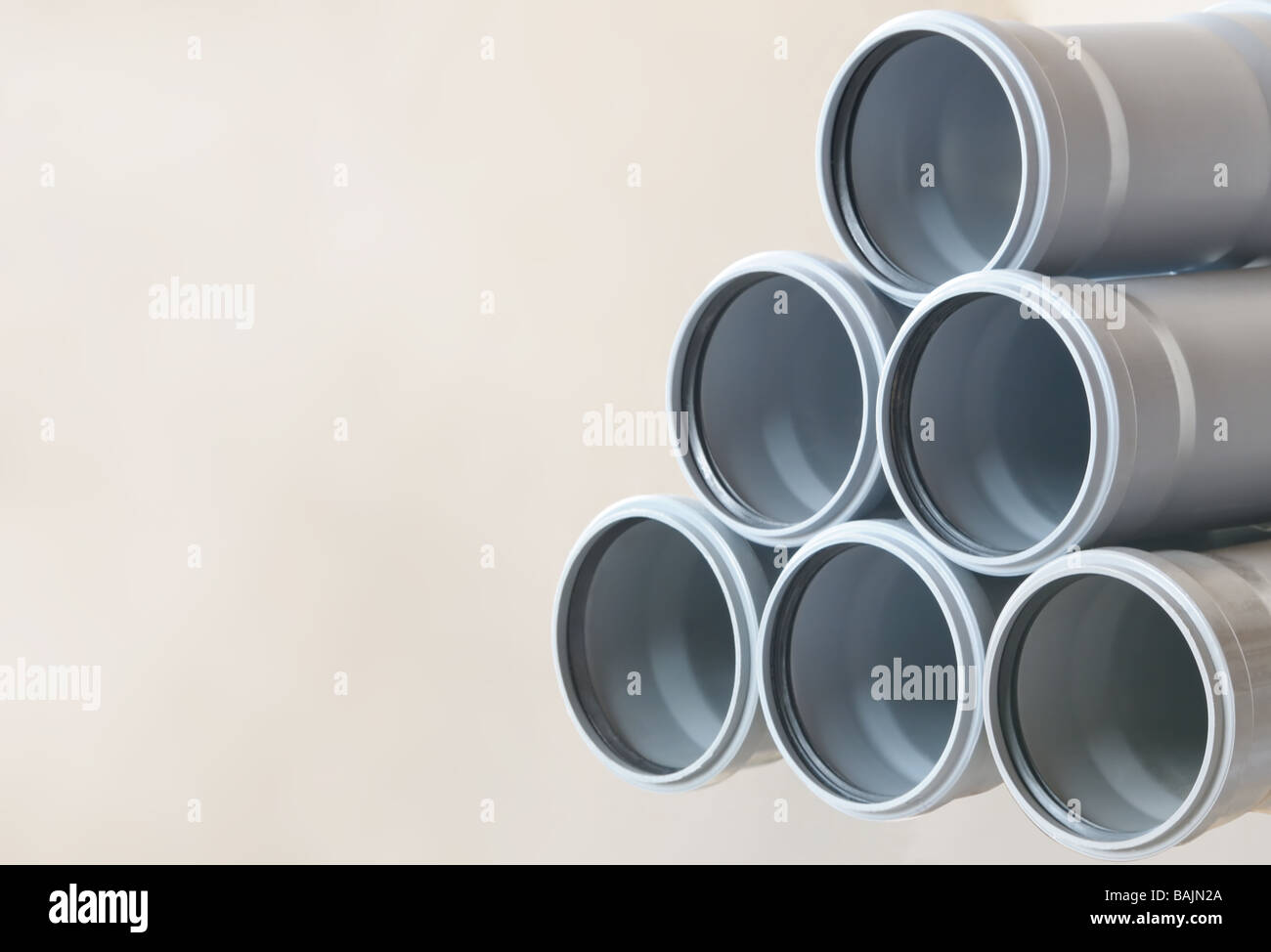 sewer pipes background - Stock Image