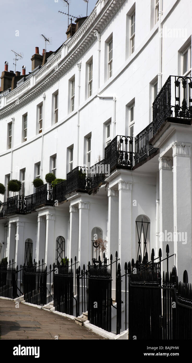 Pelham Crescent Royal Borough of Kensington Chelsea London UK - Stock Image