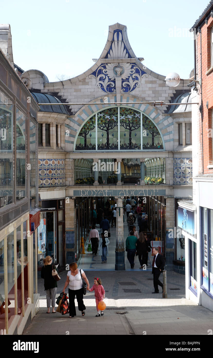 Royal Arcade, Norwich, England - Stock Image