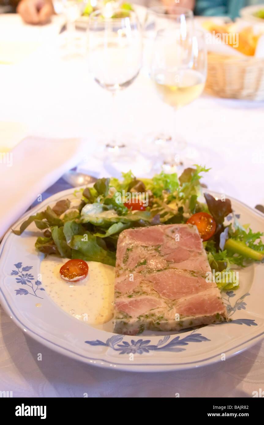 burgundian jambon persille parsley ham clos des langres ardhuy nuits-st-georges cote de nuits burgundy france Stock Photo