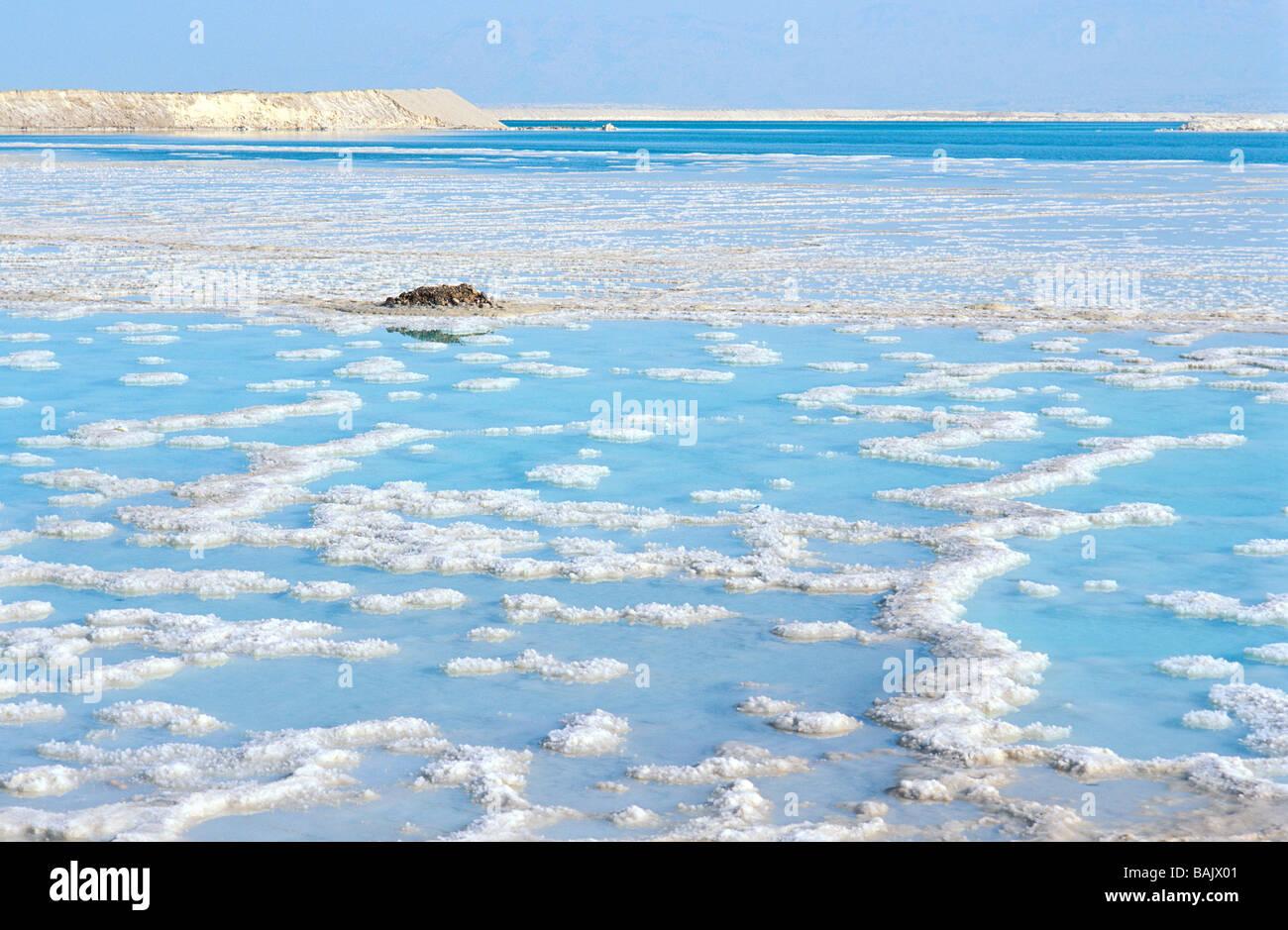 Israel, Dead Sea, salt formation - Stock Image