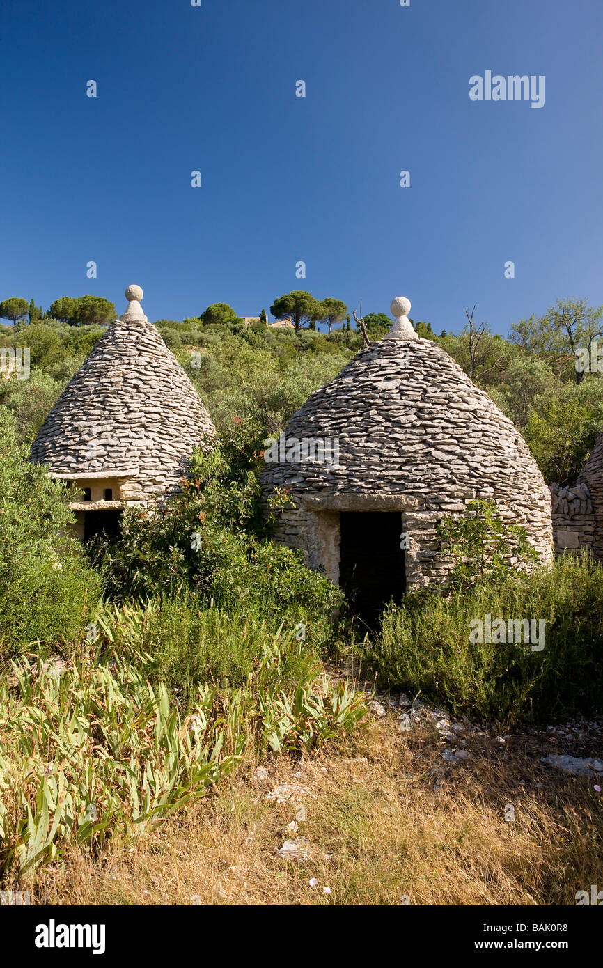 France, Vaucluse, Gordes, labeled The Most Beautiful Villages of France, the hamlet bories Soldiers - Stock Image