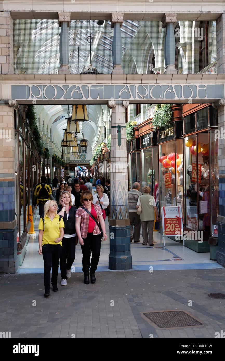 The Royal Arcade, Norwich, England - Stock Image