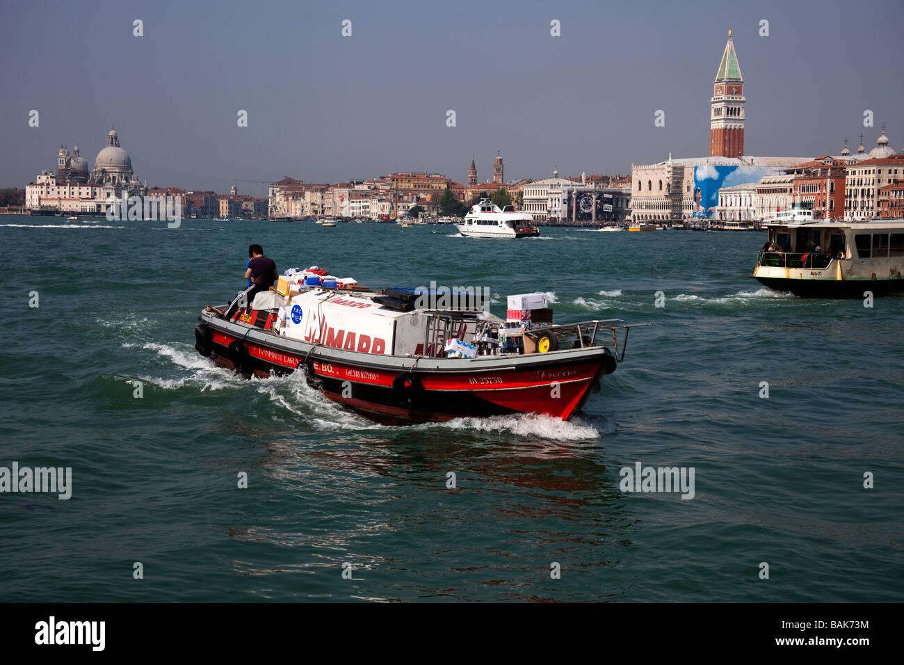 Bacino di San Marco Venice Italy transport - Stock Image